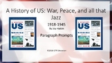 A History of Us: War, Peace, and All That Jazz - 1918-1945 Chapter Questions PPT