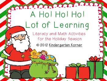 A Ho! Ho! Ho! Lot of Learning - Christmas Literacy and Math Activities