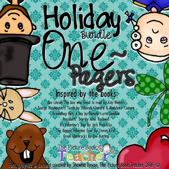 A Holiday Books Bundle - One Pagers of Reading Skills & St