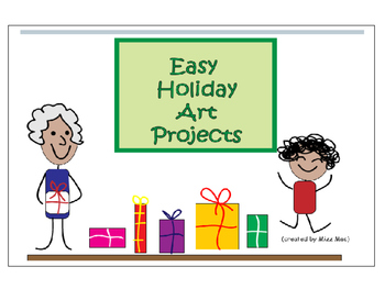 Easy Christmas Holiday Art Projects