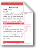 A Holiday Diary (Gr. 3/Week 29)
