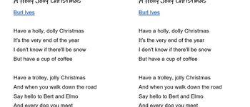 Have A Holly Jolly Christmas Lyrics.Christmas Lyrics A Holly Jolly Christmas Error Correction Esl Ell