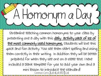 A Homonym a Day
