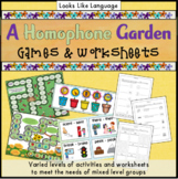 Homophone Game: Picture Cards, Word Wall & Worksheets