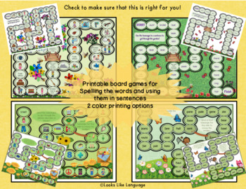Homophone Activities with Picture Worksheets and Garden Themed Games