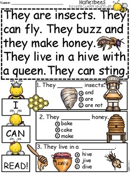A+ Honeybees Comprehension: Differentiated Instruction For Guided Reading