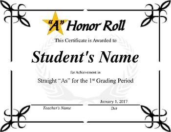 """A"" Honor Roll Bundle"