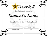 """A"" Honor Roll Bundle"