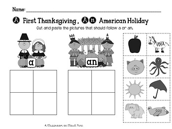 A Horn of Plenty of Vowels {A Thanksgiving Vowel and Literacy Pack}