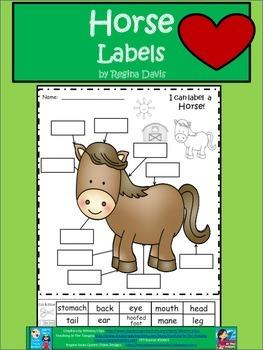 A+ Horse Labels