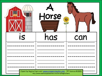 A+  Horse ... Three Graphic Organizers