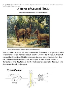 A Horse of Course! (810L) - Science Informational Text