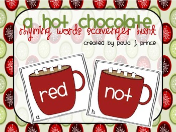 A Hot Chocolate Rhyming Words Scavenger Hunt!