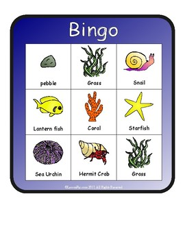 A House for Hermit Crab Bingo