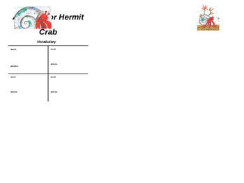 A House for Hermit Crab Graphic Organizers