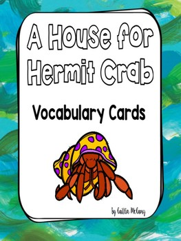 A House for Hermit Crab Vocabulary Cards