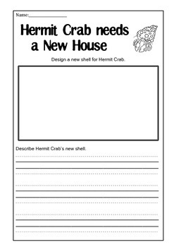 A House for Hermit Crab activity page