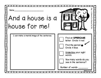 A House is a House For Me: A Primary Mentor Sentence Unit