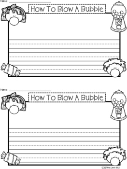 A+ How To Blow A Bubble ... Writing Paper