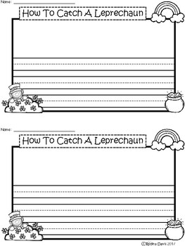 A+ How To Catch A Leprechaun ... Writing Paper