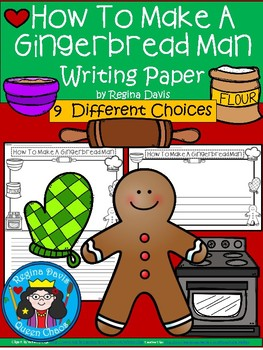 A+ How To Make A Gingerbread Man ... Writing Paper