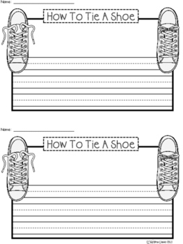 A+ How To Tie A Shoe ... Writing Paper