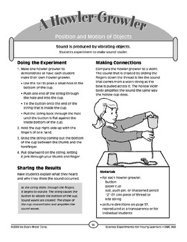 A Howler-Growler (Position and Motion of Objects)
