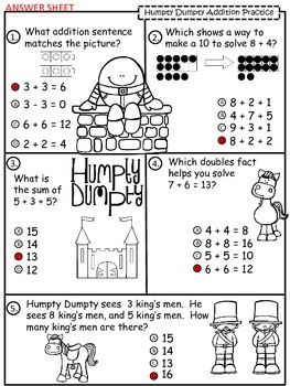 A+  Humpty Dumpty: Addition Practice