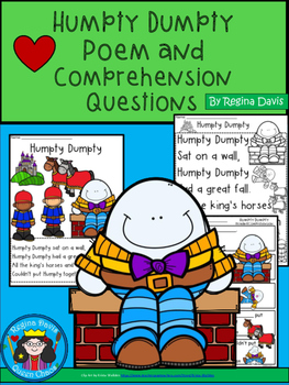 A+ Humpty Dumpty Comprehension For Guided Reading