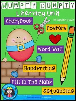 A+ Humpty Dumpty Literacy: Book, Word Wall, Poster ,Handwr