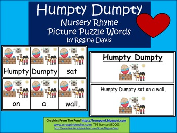 A+ Humpty Dumpty: Picture Puzzle Words