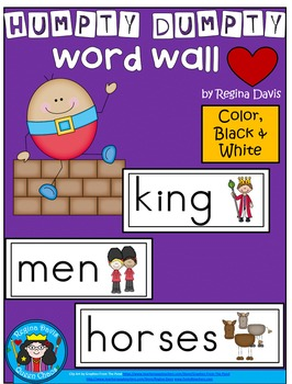 A+ Humpty Dumpty Word Wall