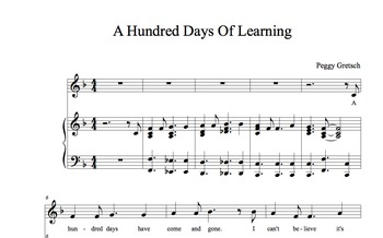 100 Days of School Song/A Hundred Days Of Learning/Kindergarten Novelty