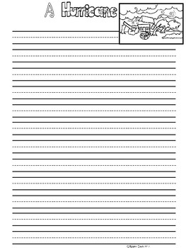 A+ Hurricane ... Writing Paper
