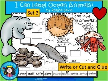 A+ I Can Label Ocean Animals! Set 2