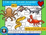 A+ I Can Label Ocean Animals! Set 3
