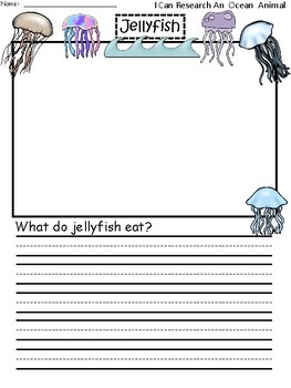 A+ I Can Research Jellyfish: Writing Paper