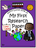 A+ I Can Research Martin Luther King, Jr. Writing Paper