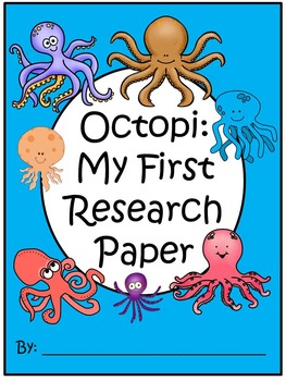 A+ I Can Research Octopi or Octopuses: Writing Paper