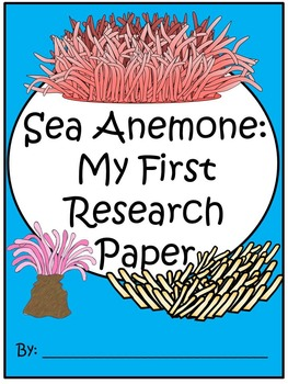 A+ I Can Research Sea Anemone: Writing Paper
