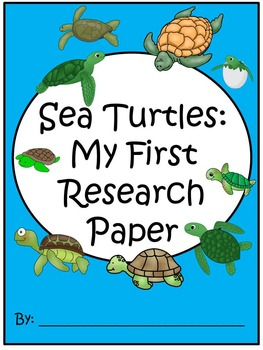 A+ I Can Research Sea Turtles: Writing Paper
