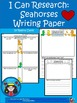 A+ I Can Research Seahorses: Writing Paper