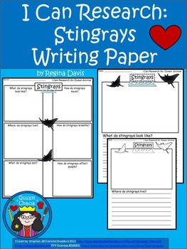 A+ I Can Research Stingrays: Writing Paper