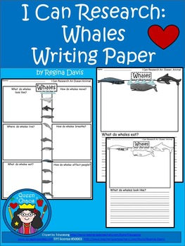 A+ I Can Research Whales Writing Paper