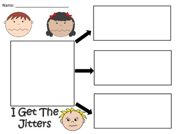 A+  I Get The Jitters... Three Graphic Organizers