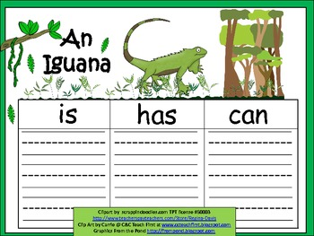 A+  Iguana... Three Graphic Organizers