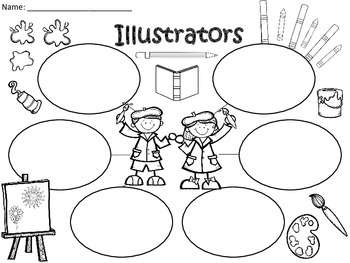 A+  Illustrators ... Three Graphic Organizers