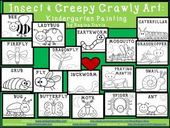 A+  Insect and Creepy Crawly: Kindergarten Painting