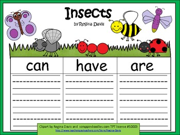 A+  Insects ... Three Graphic Organizers