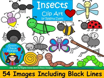 A+ Insects and Creepy Crawlies Clip Art...Color And Black